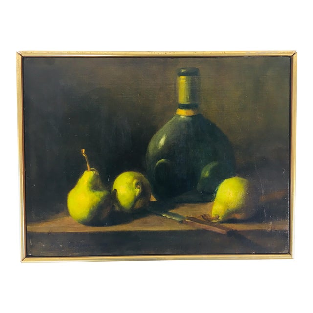 Classical Spanish Still Life Oil Painting on Canvas For Sale
