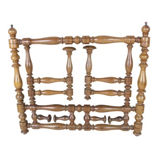 Late 19th Century Napoleon III Walnut Coat Rack For Sale
