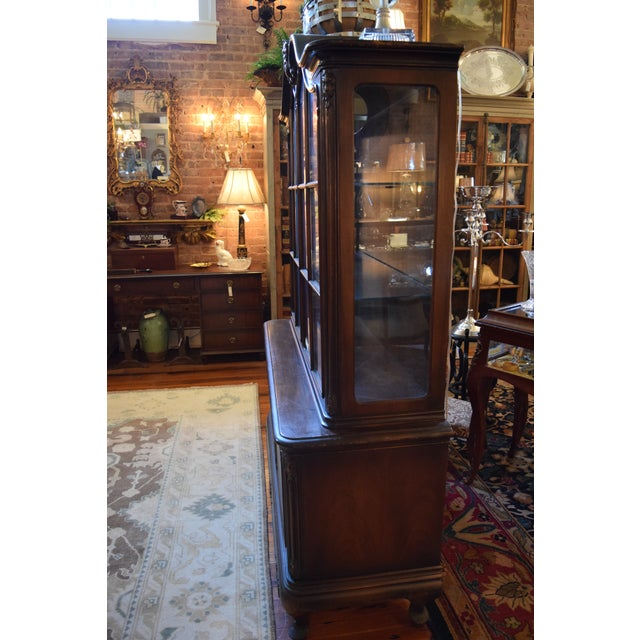 Modern Antique French Style Mahogany Cabinet For Sale - Image 3 of 7