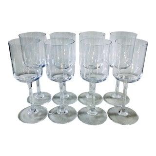 Vintage Crystal Modernist Glassware - Set of 8 For Sale
