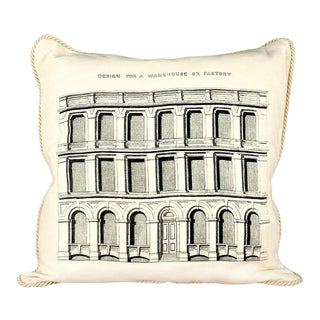 Design for a Factory or Warehouse Pillow For Sale