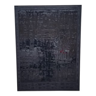 Contemporary Minimalist Monochromatic Mixed-Media Painting by Kelly Caldwell, Framed For Sale