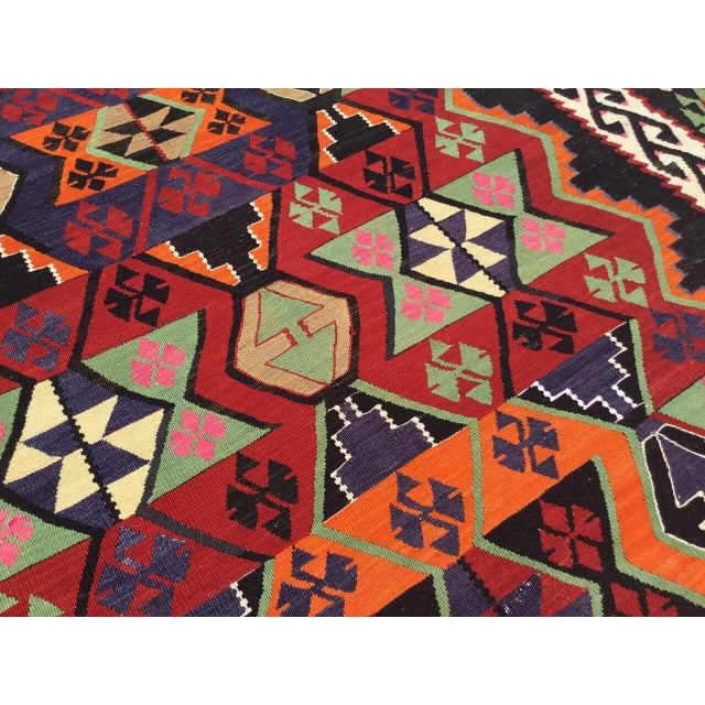 Turkish Kilim Rug For Sale In Raleigh - Image 6 of 9