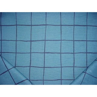 Traditional Groundworks Coquette Blue / Navy Drapery Upholstery Fabric -3-1/8y For Sale