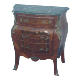 1970s French Louis XV Style Marble Top Chest of Drawers For Sale