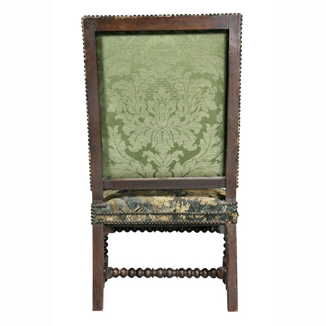 Flemish Baroque Walnut Armchair For Sale - Image 11 of 12