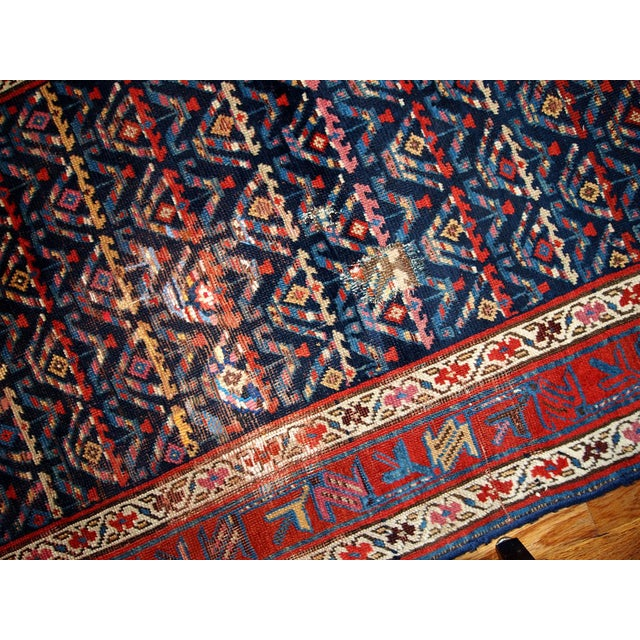Hand Made Antique Persian Kurdish Runner - 3.4' X 12.3' For Sale - Image 4 of 6