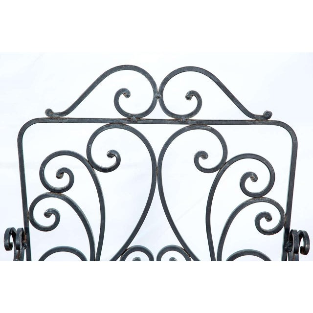 Pair of Iron French Armchairs in the Style of j.c. Moreux For Sale - Image 9 of 10