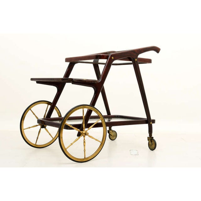 Mid-Century Modern Italian Cesare Lacca Service Cart For Sale In San Diego - Image 6 of 9