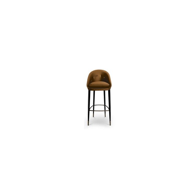 Mid-Century Modern Nessa Bar Stool From Covet Paris For Sale - Image 3 of 5