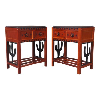 Southwestern Cactus Storage Stools - a Pair For Sale