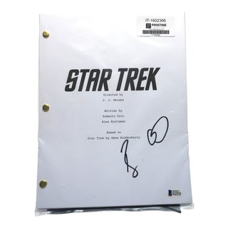 Autographed J. J. Abrams Directed Star Trek Movie Script by Actor Bruce Greenwood For Sale