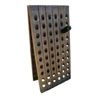 Vintage French Rustic Champagne Riddling Rack For Sale