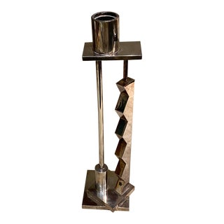 1980s Silver Candlestick by Ettore Sottsass for Swid Powell For Sale