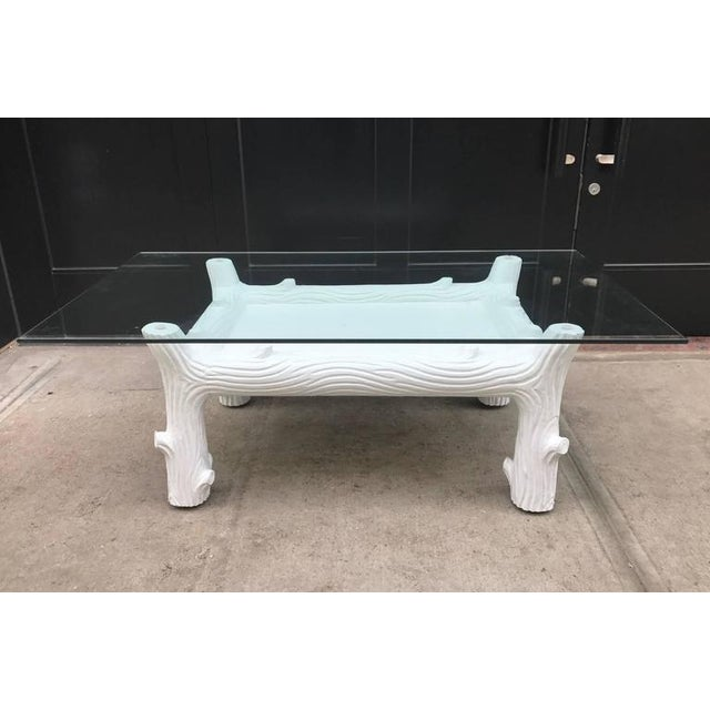 Mid-Century Modern White Vintage Wood Coffee Table Manner of John Dickinson For Sale - Image 3 of 6