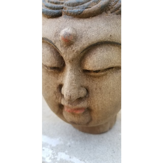 Asian Hand Carved Quan Yin Bust For Sale - Image 3 of 4