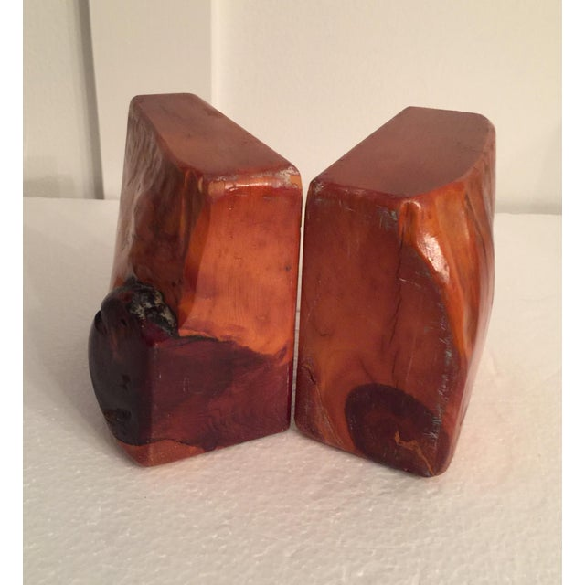 Live Edge Organic Wood Bookends - a Pair For Sale - Image 12 of 13