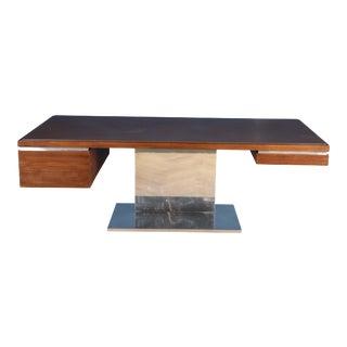 Warren Platner Work Desk Aluminum and Teak For Sale