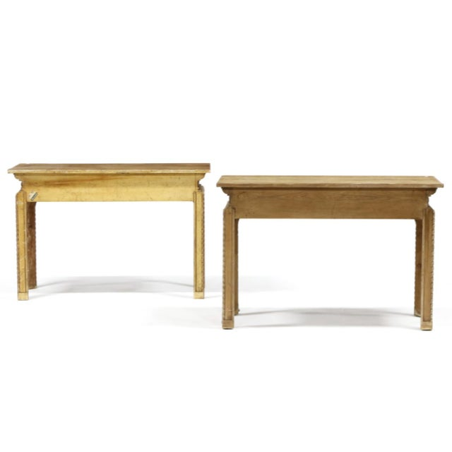 Early 20th Century Vintage Italian Carved Console Tables - a Pair For Sale - Image 5 of 11