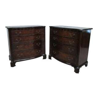Old Colony Flame Mahogany Bachelors Chests - a Pair For Sale