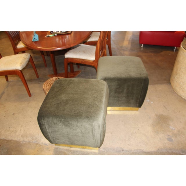 Mid 20th Century Mid 20th Century Vintage Ottomans- A Pair For Sale - Image 5 of 5