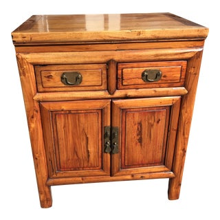 Chinese Elm Wood Chest or Cabinet