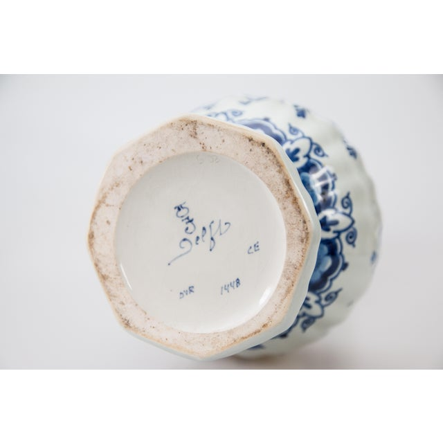 Ceramic Large Delft Dutch Faience Knobble Vase For Sale - Image 7 of 8