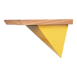 Tortuga Mounted Yellow Pyramid Shelf - 2 Pieces For Sale