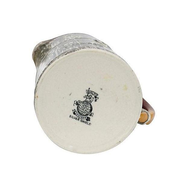 1930s Silver Shield Faux Bois Jug For Sale - Image 4 of 5