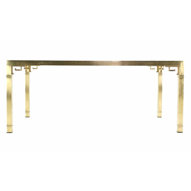 Brass Mastercraft Solid Brass Dining Table For Sale - Image 7 of 9