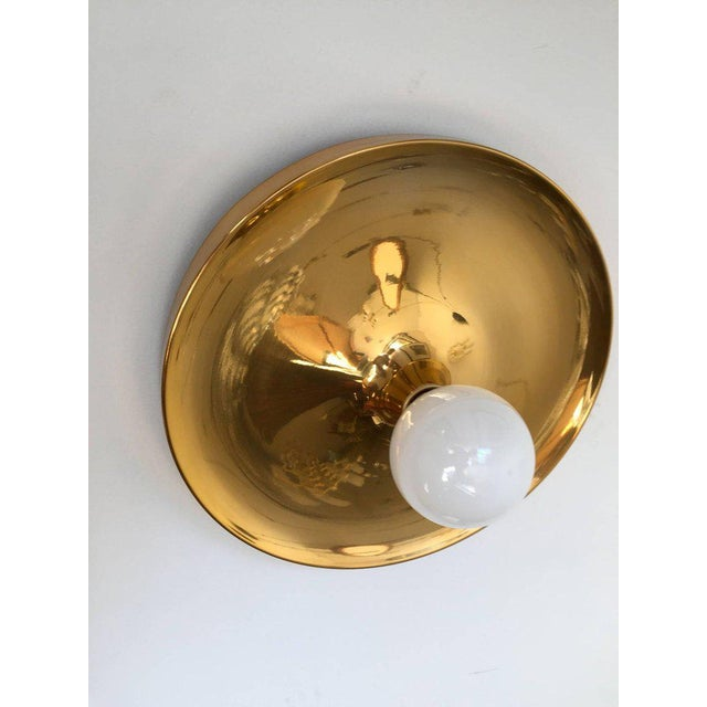 Brass German Honsel Space Age 1960s Flush Light For Sale - Image 8 of 11