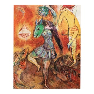 """1947 Marc Chagall """"The City Falls Asleep"""", Period Parisian Lithograph For Sale"""