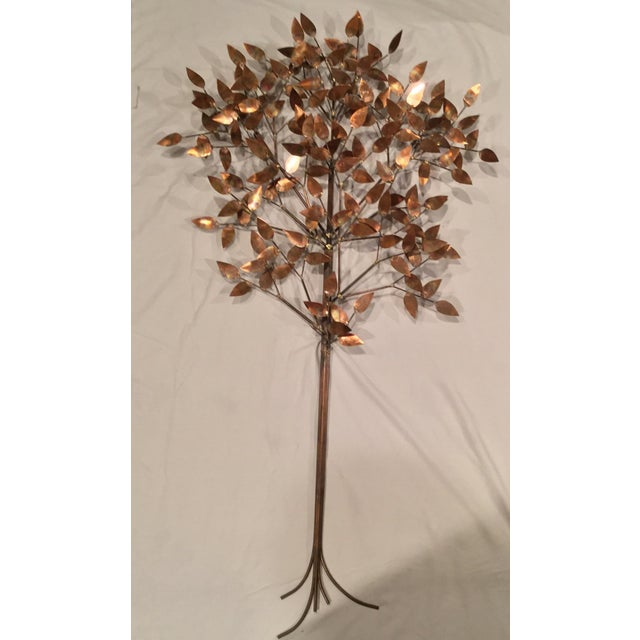 Curtis Jere Signed Curtis Jere Copper Tree Wall Sculpture For Sale - Image 4 of 7