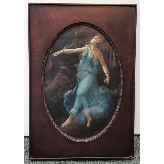 Mid 19th Century Mid 19th Century Italian Pompeiian Dancing Maenad Oil Painting on Wood Panel Set in a Mahogany Frame For Sale - Image 5 of 5