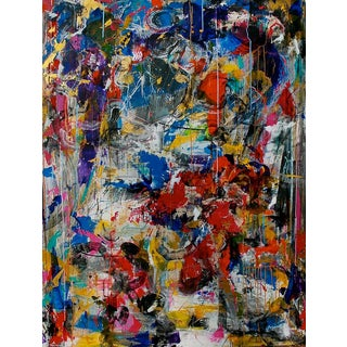 """Contemporary Abstract Painting """"Secrets Are Hard to Keep"""" by Joseph Conrad-Ferm For Sale"""