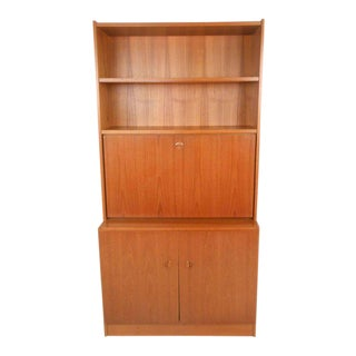 Mid-century Modern Teak Drop Front Desk For Sale