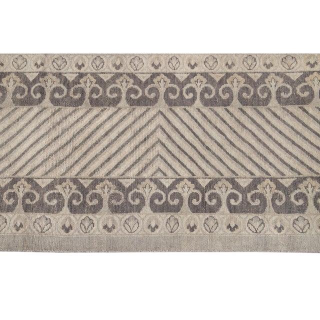 Greige 21st Century Modern Kohtan Wool Rug For Sale - Image 8 of 13