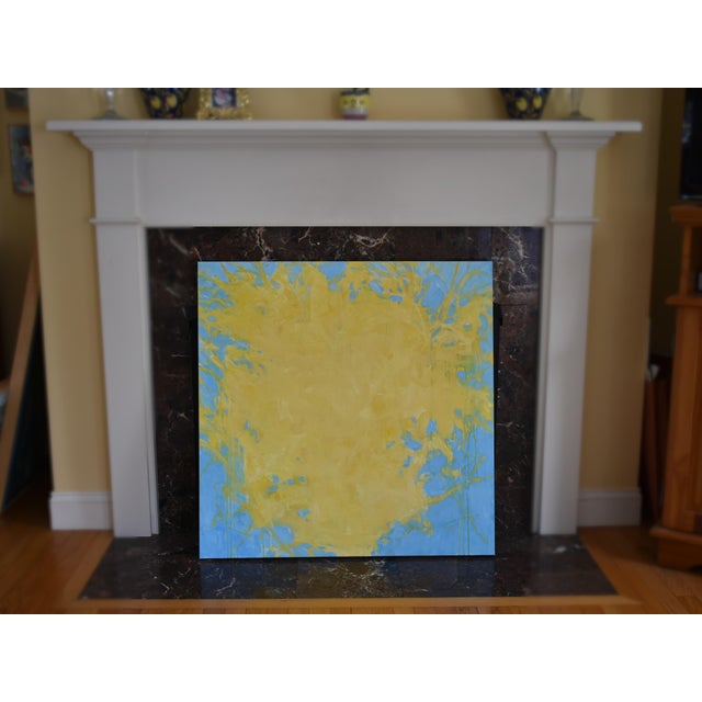 "Blue ""Forsythia"", Contemporary Abstract Painting by Stephen Remick For Sale - Image 8 of 9"