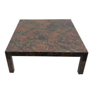 1970s Boho Chic Burl Parsons Coffee Table For Sale