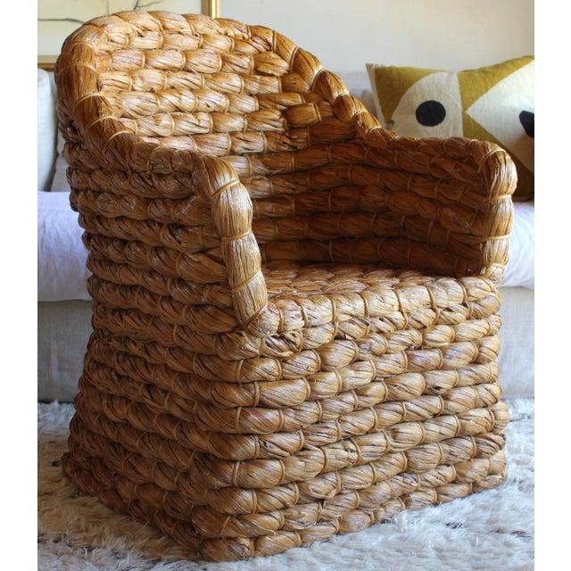 Organic Modern Ralph Lauren Joshua Tree Woven Natural Lampakanay Fiber Barrel Lounge Chair For Sale - Image 9 of 9