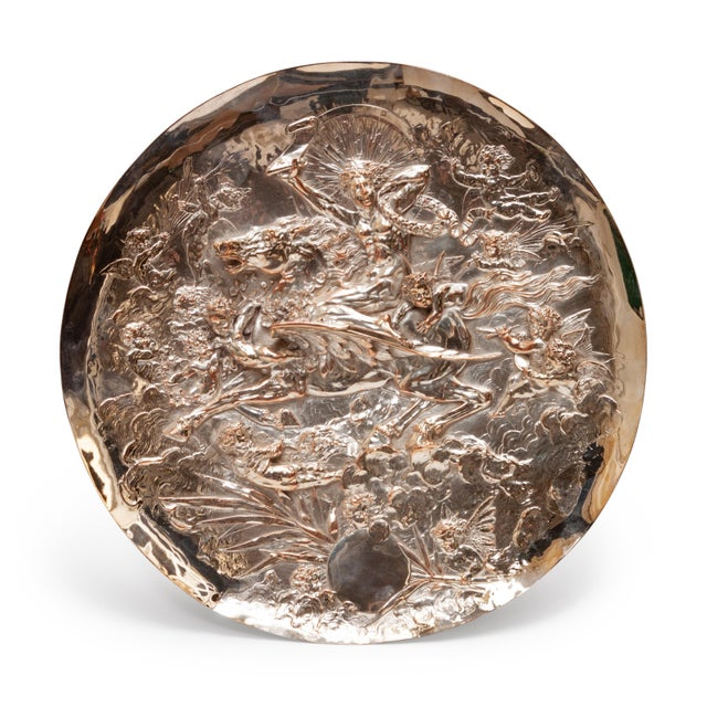 Vintage English Silver Plate Repoussé Charger by Elkington and Co. For Sale - Image 13 of 13