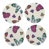 Image of Butterflies Coasters, Set of 4 For Sale