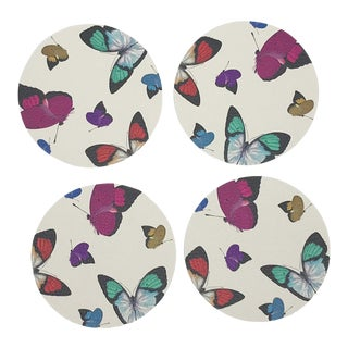 Butterflies Coasters, Set of 4 For Sale