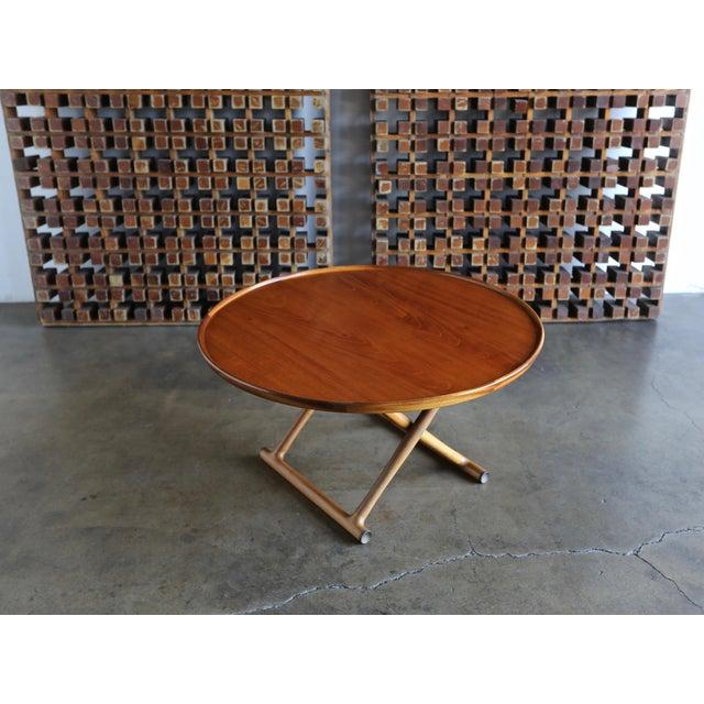 Brown 1950s Danish Modern Mogens Lassen for A.J. Iversen Center Table For Sale - Image 8 of 13