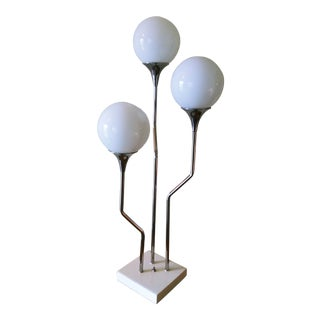 1960s Goffredo Reggiani Chrome Space Age Orb Table Lamp For Sale