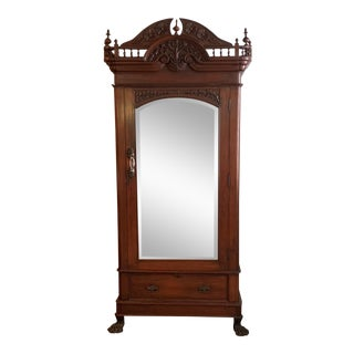 19th Century British India Mahogany Armoire For Sale