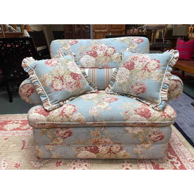 La-Z Boy Shabby Chic Arm Chair Recliner For Sale - Image 12 of 12
