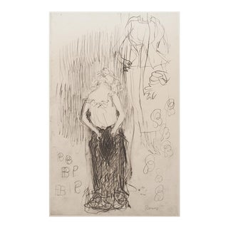 "1959 Art Nouveau Lithograph, ""Toilette"" by Pierre Bonnard"