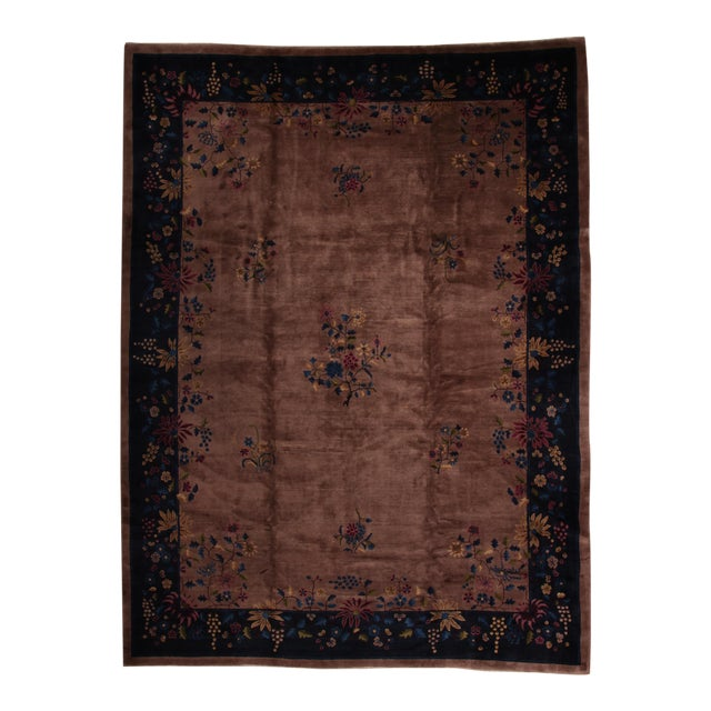 Antique Chinese Art Deco Rug - 10′2″ × 13′5″ - Image 1 of 6