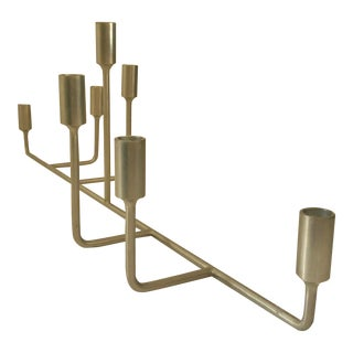 Mid-Century Modern Minimalist Large Table Top Candle Holder For Sale